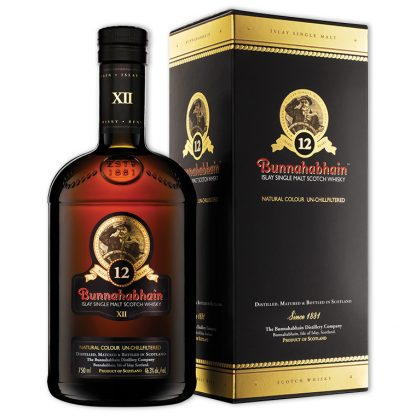 Whisky,Bunnahabhain 12 Years Islay Single Malt Scotch Whisky 布納哈本12年艾雷島單一純麥威士忌,700mL