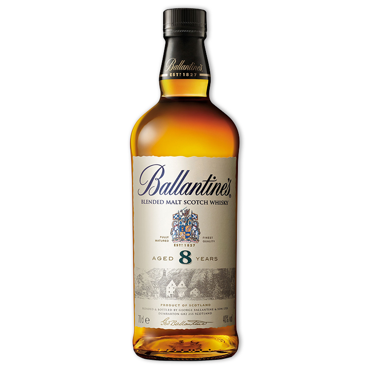 Whisky,Ballantine's 8 Years Blended Scotch Whisky 百齡罈8年調和威士忌,700mL