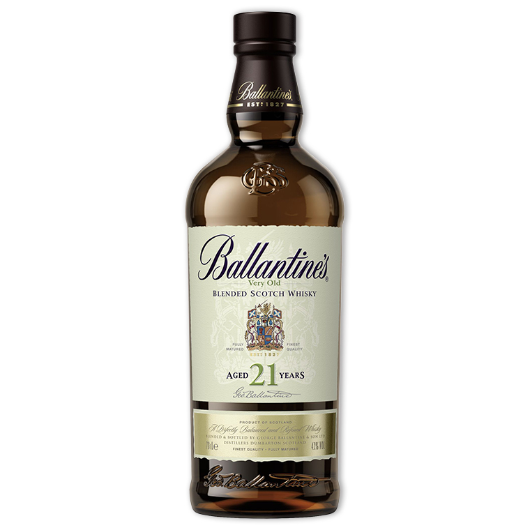 Whisky,Ballantine's 21 Years Blended Scotch Whisky 百齡罈21年調和威士忌,700mL