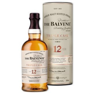 Whisky,Balvenie 12 Years Triple Cask Single Malt Scotch Whisky 百富12年經典三桶單一純麥威士忌,1000mL