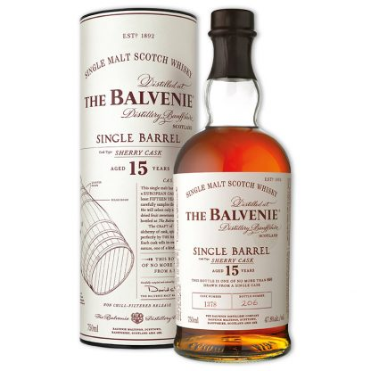 Whisky,Balvenie 15 Years Single Barrel Sherry Single Malt Scotch Whisky 百富15年單一雪莉桶單一純麥威士忌,700mL