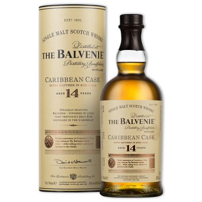 Whisky,Balvenie 14 Years Caribbean Cask Single Malt Scotch Whisky 百富14年加勒比海蘭姆桶單一純麥威士忌,700mL
