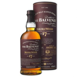 Whisky,Balvenie 17 Years Doublewood Single Malt Scotch Whisky 百富17年雙桶單一純麥威士忌,700mL