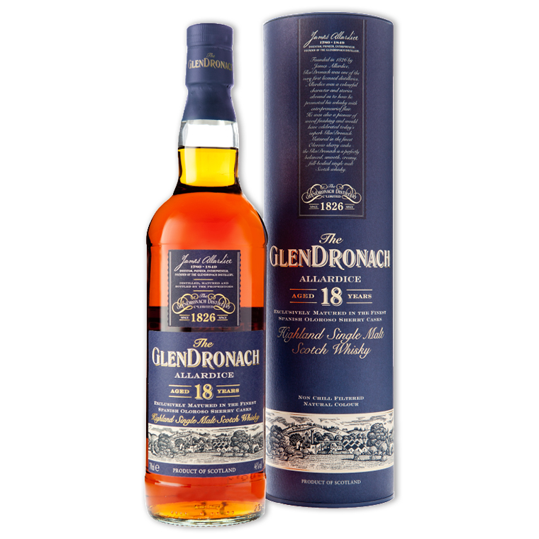 Whisky,Glendronach 18 Years Single Malt Scotch Whisky 格蘭多納18年單一純麥威士忌,700mL