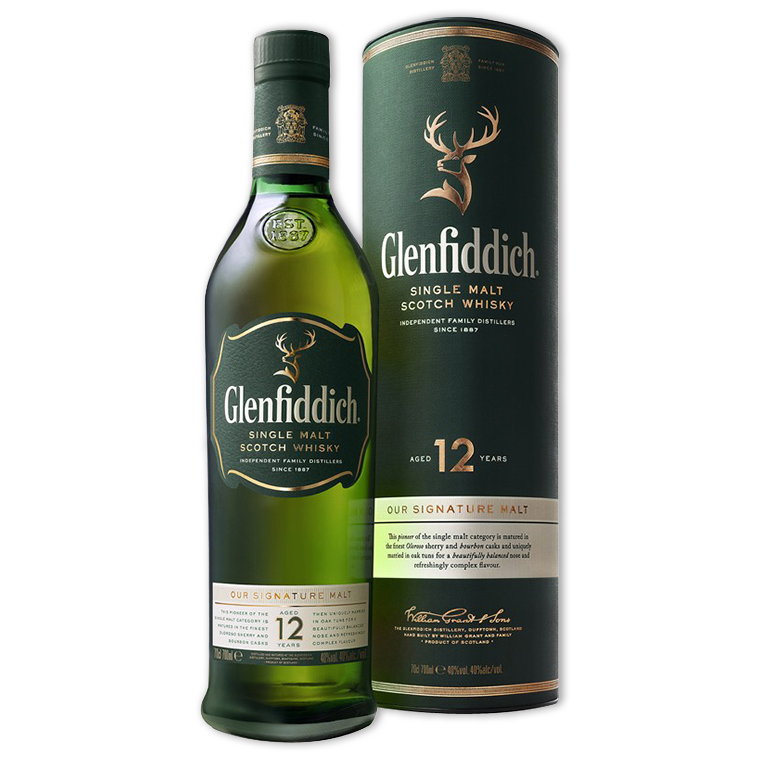 Whisky,Glenfiddich 12 Years Single Malt Scotch Whisky 格蘭菲迪12年單一純麥威士忌,700mL