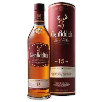 Whisky,Glenfiddich 15 Years Single Malt Scotch Whisky 格蘭菲迪15年單一純麥威士忌,700mL