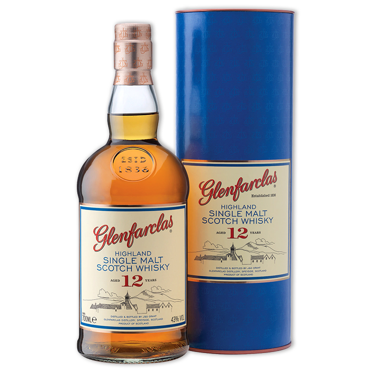 Whisky,Glenfarclas 12 Years Highland Single Malt Scotch Whisky 格蘭花格12年單一純麥威士忌,1000mL
