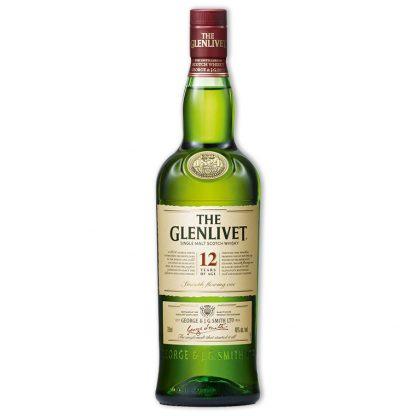 Whisky,Glenlivet 12 Years Single Malt Scotch Whisky 格蘭利威12年單一純麥威士忌,700mL