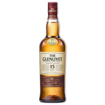 Whisky,Glenlivet 15 Years Single Malt Scotch Whisky 格蘭利威15年單一純麥威士忌,700mL