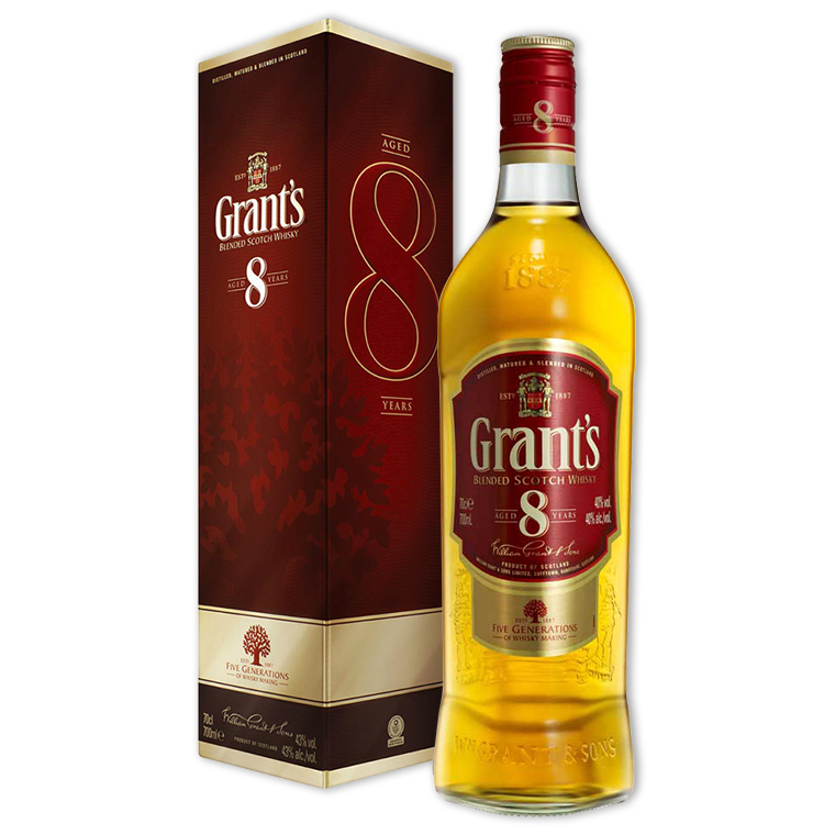 Whisky,Grant's 8 Years Blended Scotch Whisky 格蘭8年調和威士忌,700mL