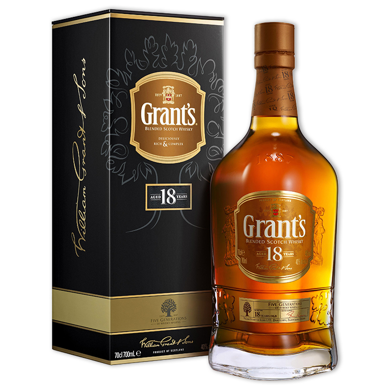 Whisky,Grant's 18 Years Blended Scotch Whisky 格蘭18年調和威士忌,700mL