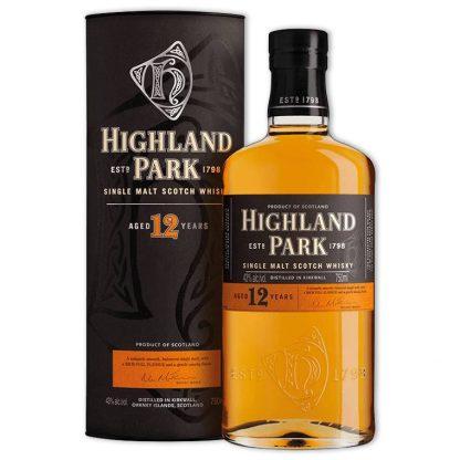 Whisky,Highland Park 12 Years Single Malt Scotch Whisky 高原騎士12年單一純麥威士忌,700mL