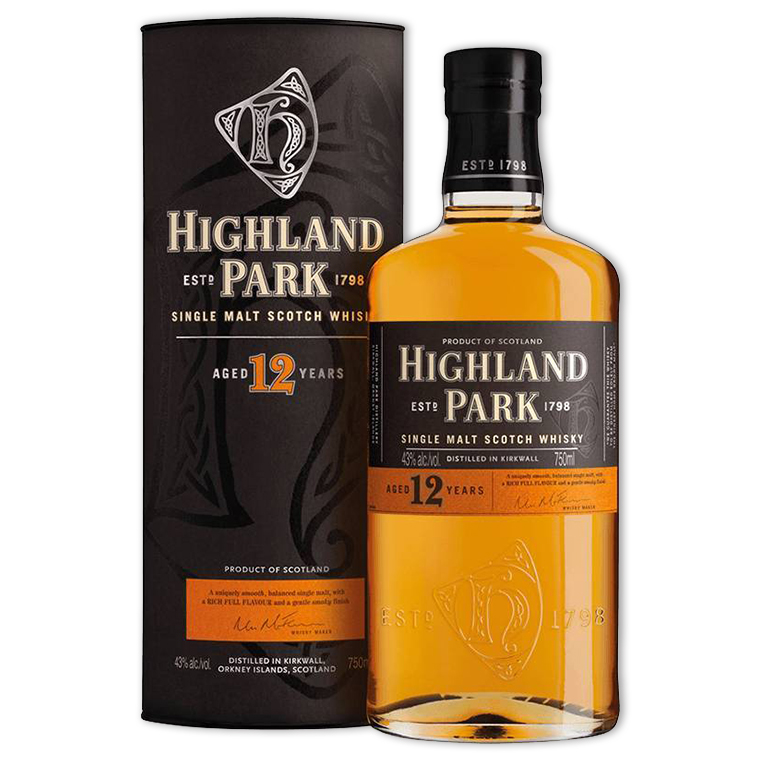 Whisky,Highland Park 12 Years Single Malt Scotch Whisky 高原騎士12年單一純麥威士忌,700mL