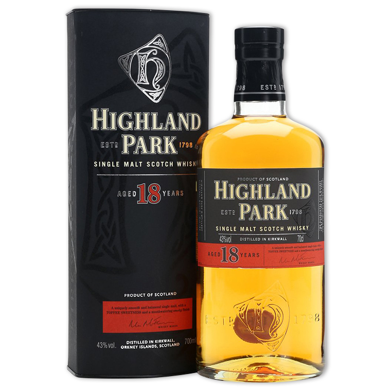 Whisky,Highland Park 18 Years Single Malt Scotch Whisky 高原騎士18年單一純麥威士忌,700mL