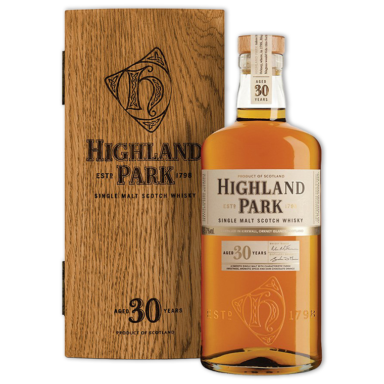 Whisky,Highland Park 30 Years Single Malt Scotch Whisky 高原騎士30年單一純麥威士忌,700mL