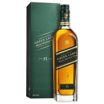 Whisky,Johnnie Walker Green Label 15 Years Blended Scotch Whisky 約翰走路綠牌15年調和威士忌,700mL