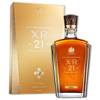 Whisky,Johnnie Walker XR 21 Years Blended Scotch Whisky 約翰走路 XR 21年調和威士忌,750mL