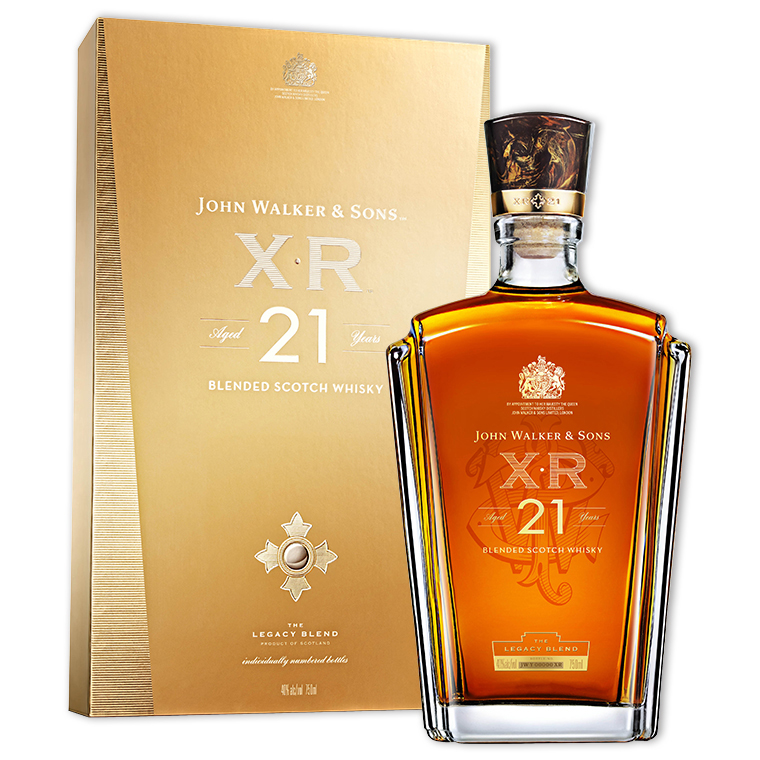 Whisky,Johnnie Walker XR 21 Years Blended Scotch Whisky 約翰走路 XR 21年調和威士忌,750mL