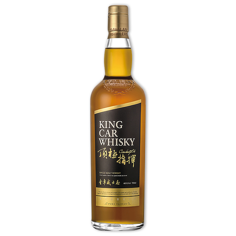 Whisky,Kavalan King Car Conductor Single Malt Whisky 噶瑪蘭金車頂極指揮單一純麥威士忌,700mL