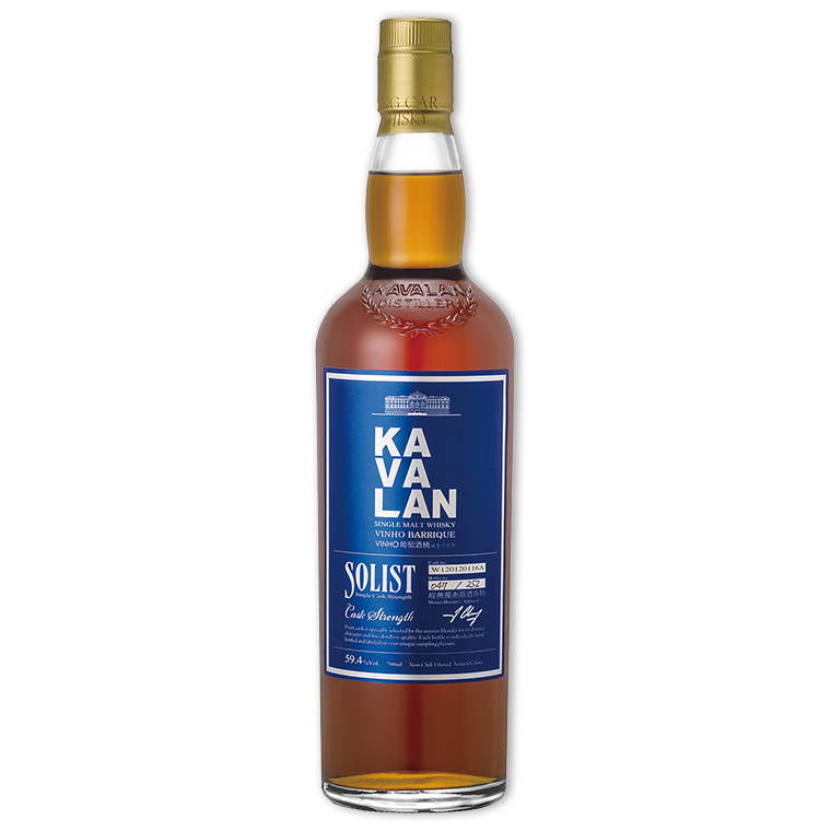 Whisky,Kavalan Solist Vinho Barrique Single Cask Strength Single Malt Whisky 噶瑪蘭經典獨奏VINHO葡萄酒桶原酒單一純麥威士忌,700mL