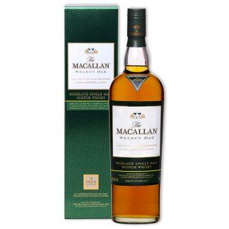 Whisky,Macallan 1824 Select Oak Single Malt Scotch Whisky 麥卡倫1824綠標橡木精選款單一純麥威士忌,700mL