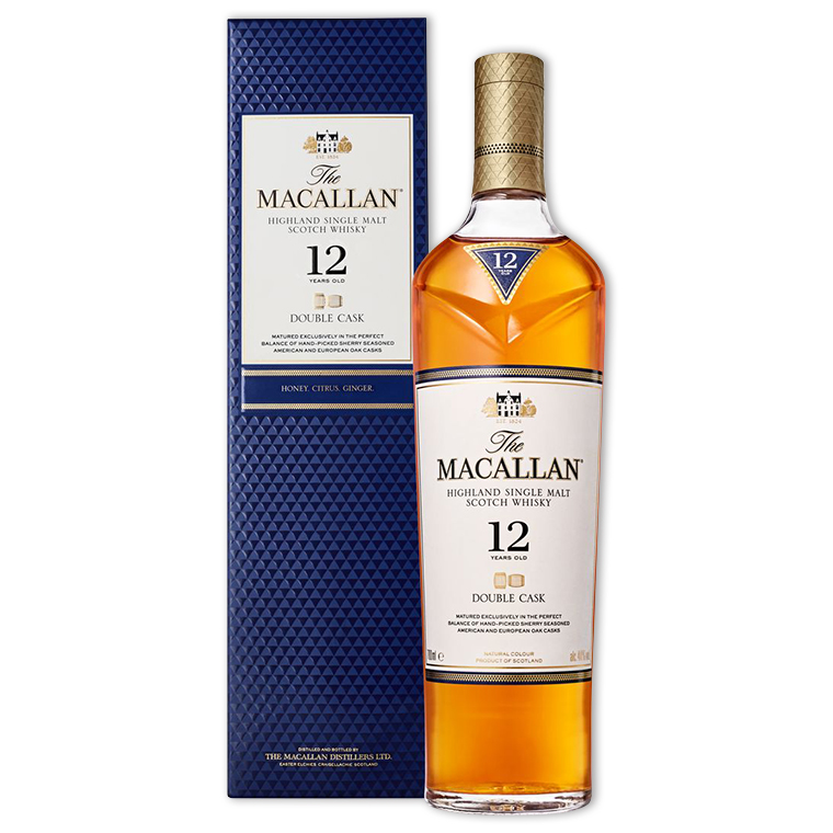 Whisky,Macallan 12 Years Double Cask Single Malt Scotch Whisky 麥卡倫12年雙桶單一純麥威士忌,700mL