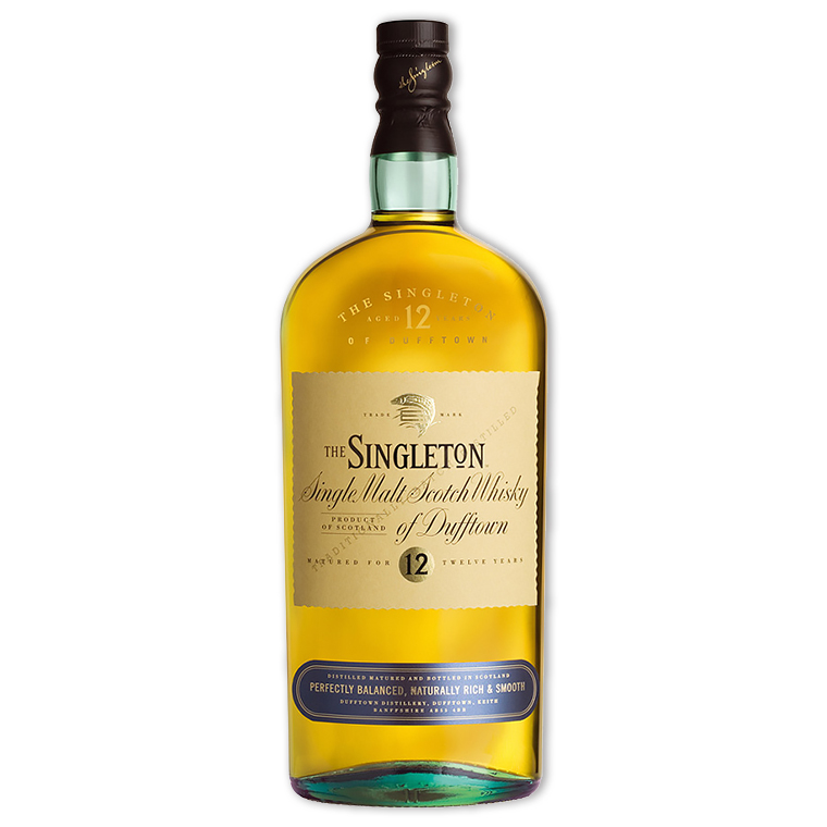 Whisky,Singleton of Dufftown 12 Years Single Malt Scoth Whisky 蘇格登歐洲版12年單一純麥威士忌,700mL