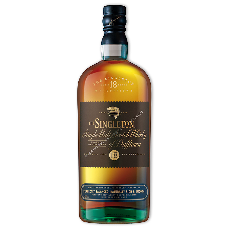 Whisky,Singleton of Dufftown 18 Years Single Malt Scoth Whisky 蘇格登18年歐版單一純麥威士忌,700mL